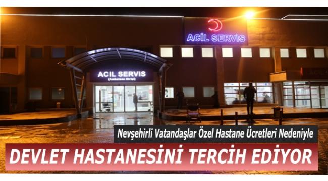 Nevşehir Devlet Hastanesi Acil Servisine Yoğun İlgi!