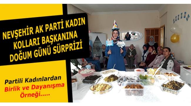 Nevşehir AK Parti Kadın Kolları BaşkanıBilgiç'e Sürpriz Doğum Günü