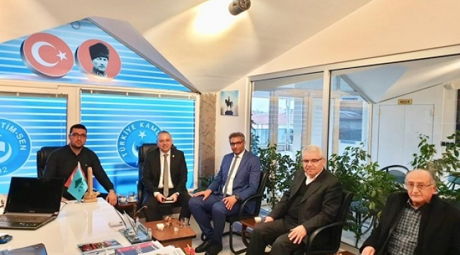 CHP HEYETİ TÜRK EĞİTİM SEN'İ ZİYARET ETTİ.